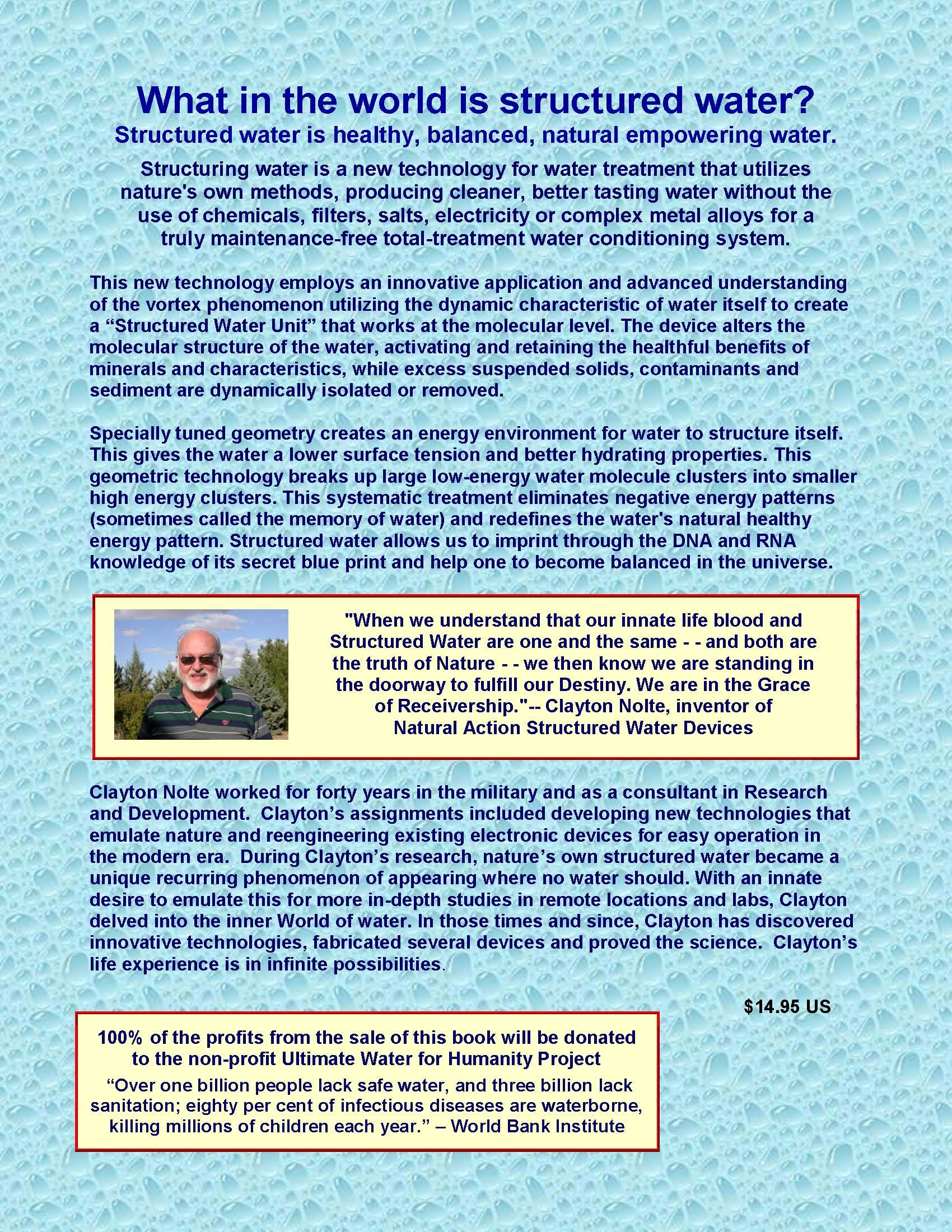 Introduction To Water Gardening: Structured Water Resources From Ultimate Destiny, Inc